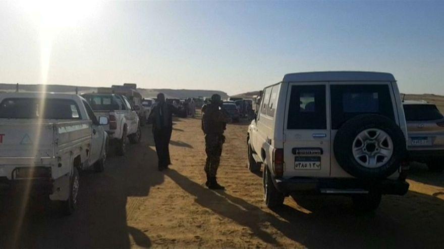 Tűzharcban halt meg több mint 50 rendőr Egyiptomban