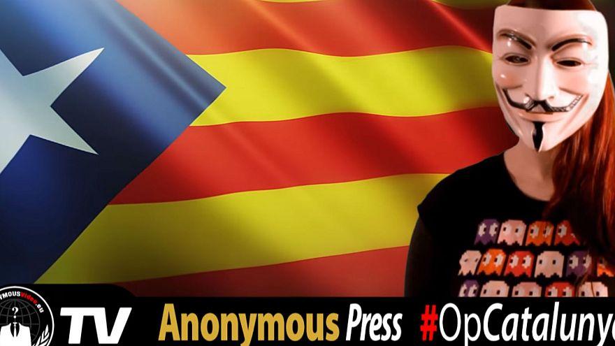 """Los """"hackers"""" de Anonymous bloquean la página web del Tribunal Constitucional por Cataluña"""