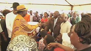 Odinga attends burial of protests victims