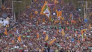 Thousands in Barcelona demand freedom for independence activists
