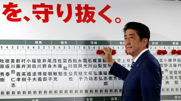 Japan votes in early election as Abe seeks record fourth term