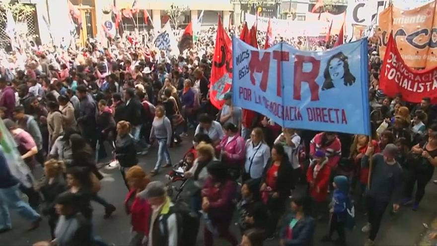 Demonstrators in Buenos Aires demand answers about death of Argentine protester