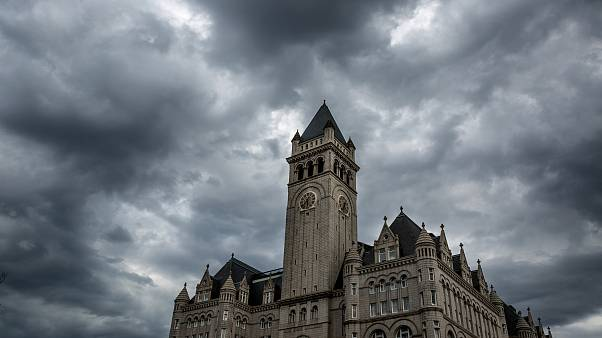 Image: A thunderstorm builds over the Trump International Hotel in Washingt