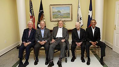 Ex-US Presidents join forces for hurricane relief concert ,over $31m raised so far