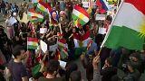 Erbil'de Rusya Konsolosluğu önünde eylem