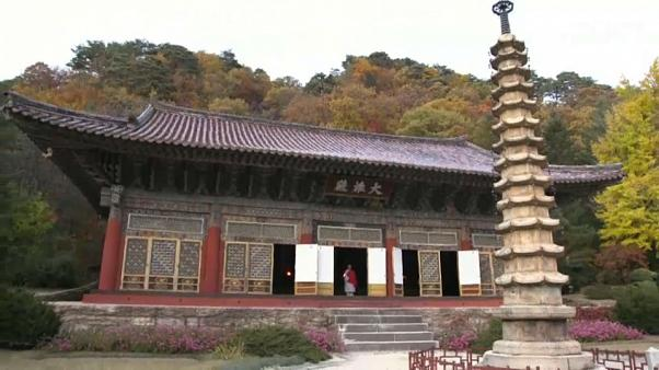 Hidden North Korea: NBC's Keir Simmons visits Pohynsa Temple