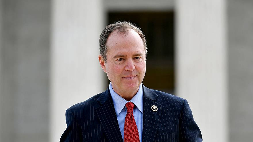 Image: House Intelligence Committee Chair Adam Schiff, D-Calif., outside of