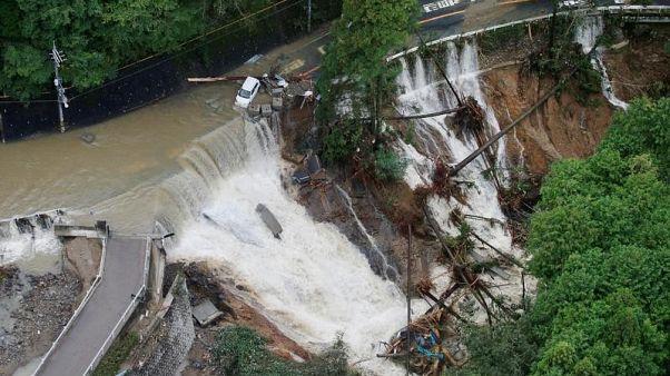 """مقتل 4 أشخاص جراء إعصار """"لان"""" في اليابان"""