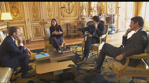 Watch: French president's dog relieves himself during meeting with ministers