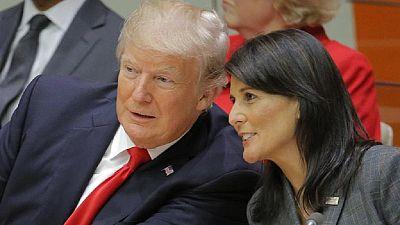 United States  ambassador Haley evacuated from S. Sudan camp