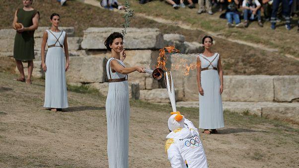 Εντυπωσιακές εικόνες από την Αρχαία Ολυμπία για την Aφή της φλόγας