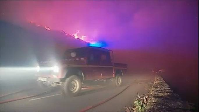 Erdőtűz Korzikán