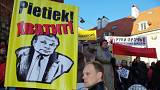 Акция протеста в Риге против школьной реформы
