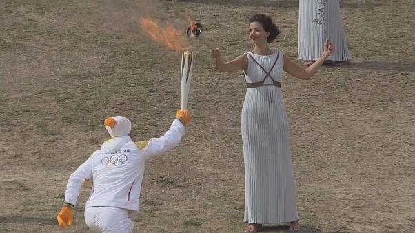 В Олимпии отрепетировали зажжение огня