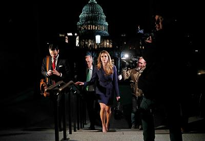 White House Communications Director Hope Hicks leaves the U.S. Capitol after attending a House Intelligence Committee meeting on Feb. 27, 2018.