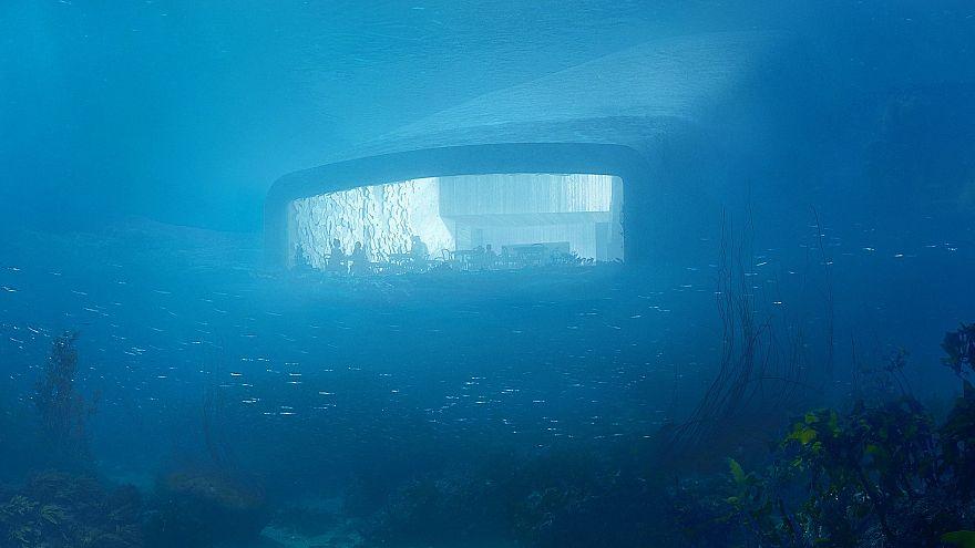 Avrupa'da ilk: Okyanus altında restoran
