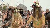 Zombies tomam as ruas de Key West com as suas bicicletas