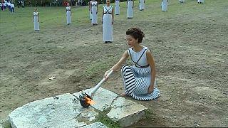 Зажжен огонь зимней Олимпиады