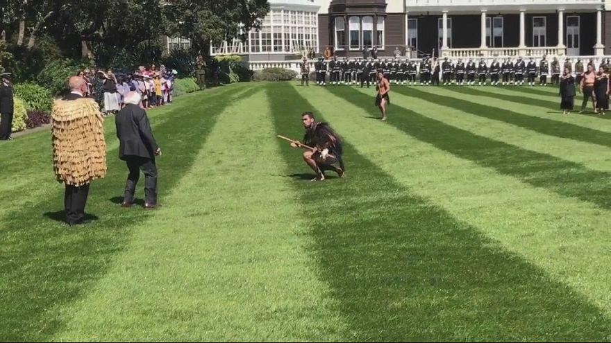 Neuseeland: Irlands Präsident wird mit Haka-Tanz empfangen
