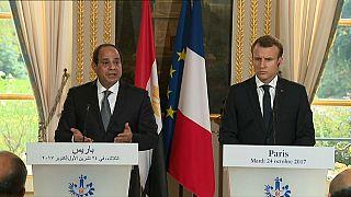 Macron e Sissi: Falou-se muito de negócios e pouco de direitos humanos