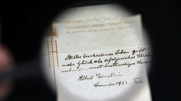 Einstein'ın mutluluk formülü müzayedede satıldı