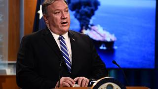 Image: Secretary of State Mike Pompeo delivers remarks at the State Departm