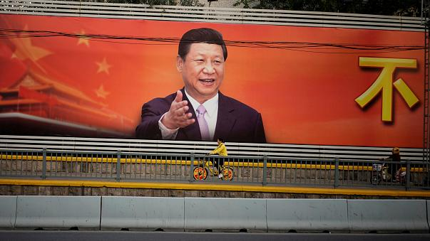 China's Communist Party unveils new top leadership panel with President Xi Jinping at its head