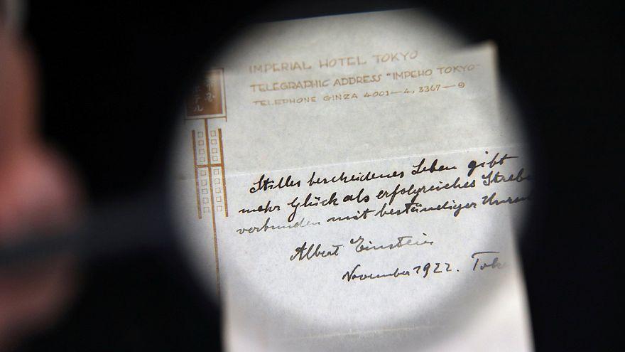 Anleitung zum Glücklichsein: Einstein-Notiz für 1,1 Millionen Euro versteigert