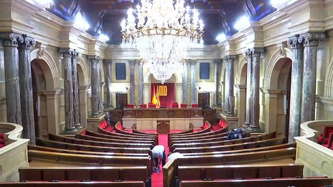 El Parlament de Cataluña blindado para el pleno
