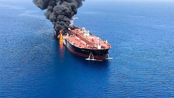 Image: GULF-SHIPPING-OIL-US-IRAN-JAPAN-NORWAY-DIPLOMACY
