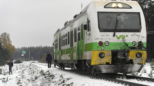 Soldiers killed in a train crash in southern Finland