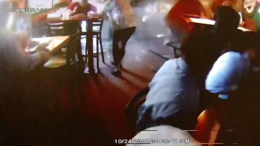 Watch: Car ploughs through wall and into busy restaurant