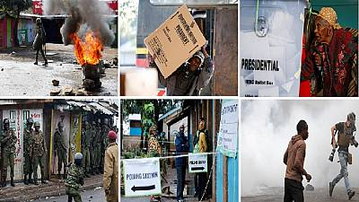 [Photos] Kenya poll re-run: Low turnout as riot police 'battle' with protesters
