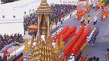 Urn for late Thai King Bhumibhol Adulyadej taken to crematorium