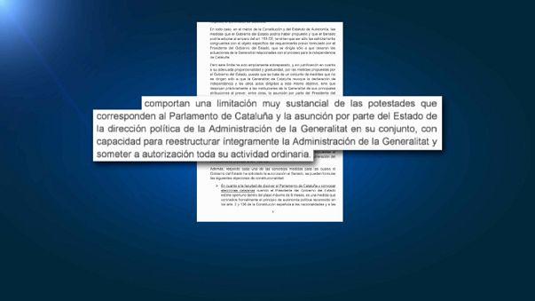 """La carta de Puigdemont: """"El 155 arrebata a Cataluña su autonomía política"""""""