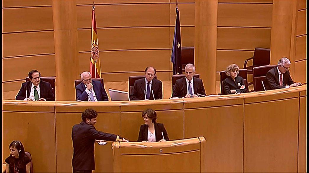 La vicepresidenta del Gobierno defiende en el Senado el 155