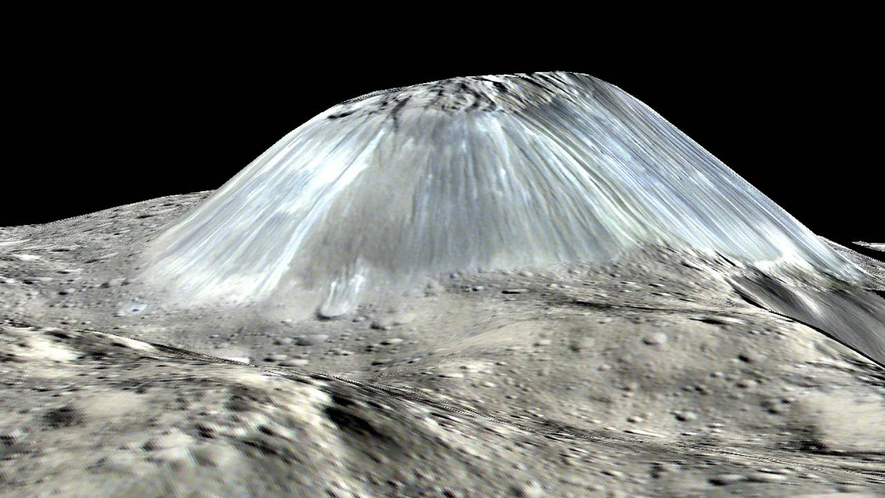 Mystery of dwarf planet's 'lonely mountain' has been solved