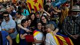Catalan lawmakers burst into song after independence declaration