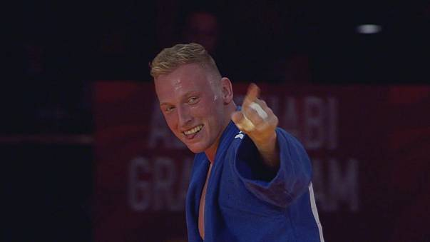 Frank De Wit enjoys a golden moment at Abu Dhabi Judo Grand Slam
