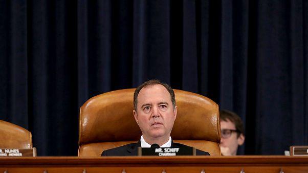 Image: House Intelligence Committee Chairman Adam Schiff listens to testimo