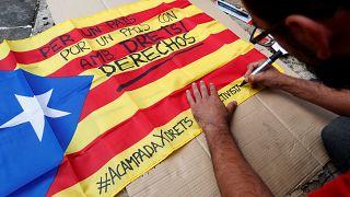 Catalan leader urges calm opposition