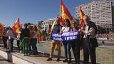 About 1,000 pro-unity supporters rally  in Madrid