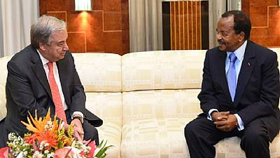 Cameroon govt mute on details of Biya-Guterres meeting