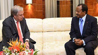 Silence plat sur la rencontre entre Paul Biya et le chef de l'ONU