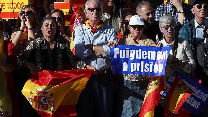 Thousands rally in Madrid for Spanish unity