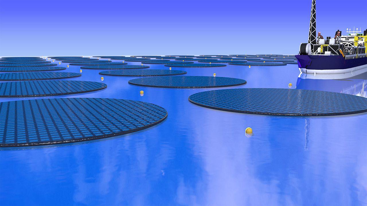 Image: type of solar methanol island facility