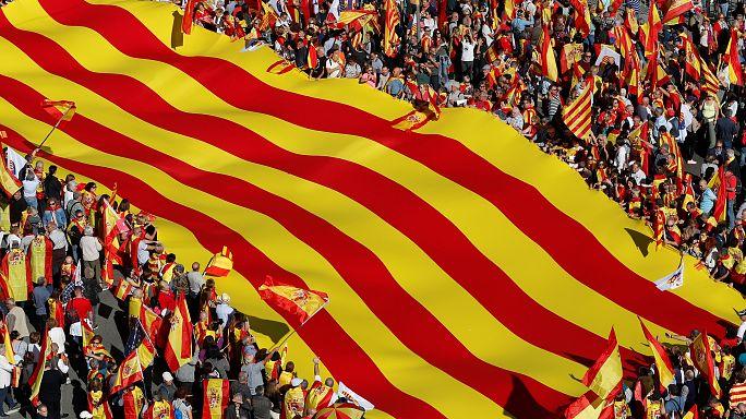 Pro-unity rally fills Barcelona streets