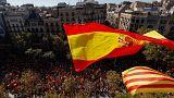 Multitudinaria manifestación contra la independencia en Barcelona