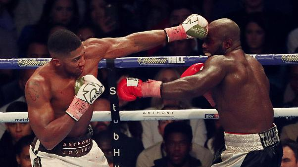 Briton's Joshua defends world heavyweight titles