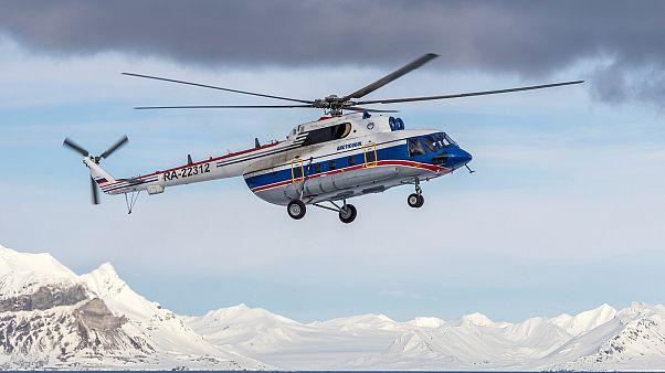 Spitzbergen: Hubschrauber in 209 Metern Tiefe geortet